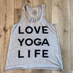 Tops - Live Love Yoga Wanderlust Tank - Size M